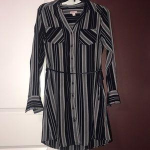 NWOT Merona Navy/White Striped Dress